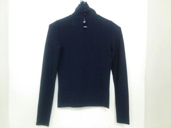 シャネル 長袖セーター サイズ34 S レディース 黒 ハイネック/リボン 2