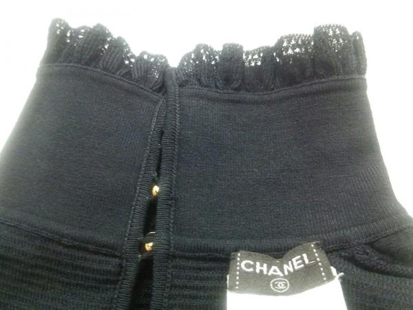 シャネル 長袖セーター サイズ34 S レディース 黒 ハイネック/リボン 5