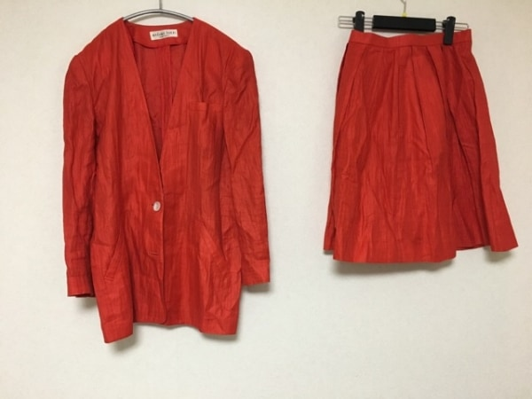 ユキコハナイ スカートスーツ サイズ9 M レディース レッド 0