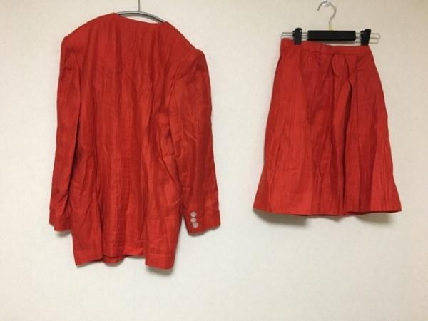 ユキコハナイ スカートスーツ サイズ9 M レディース レッド 2