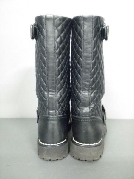 シャネル ブーツ 36 レディース マトラッセ G28566 黒 CHANEL 3
