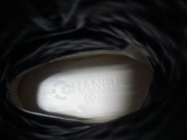 シャネル ブーツ 36 レディース マトラッセ G28566 黒 CHANEL 6