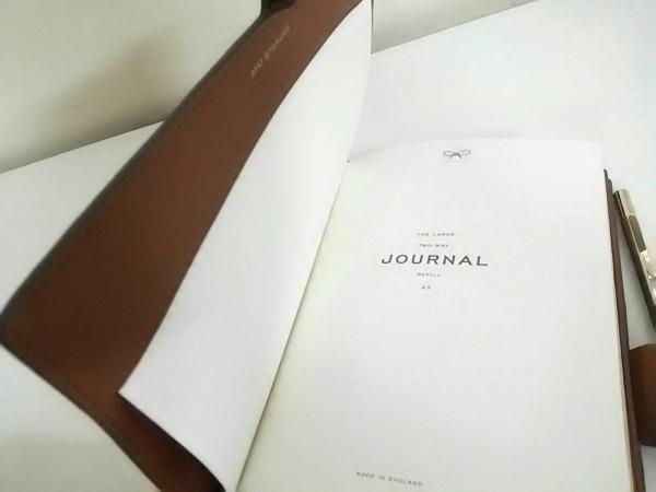 アニヤハインドマーチ 手帳 美品 ダークブラウン×マルチ レザー 5