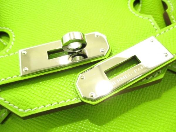 エルメス ハンドバッグ 美品 キャンディバーキン35 キウイ 3