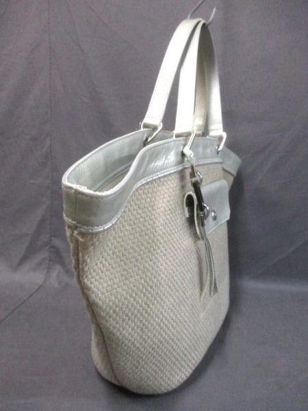 ロンシャン ハンドバッグ ベージュ×ライトグレー LONGCHAMP 2