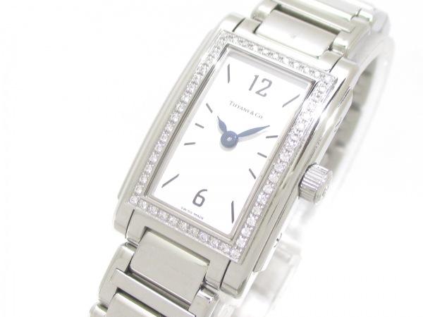 ティファニー 腕時計 グランド - レディース SS/ダイヤベゼル 白 0