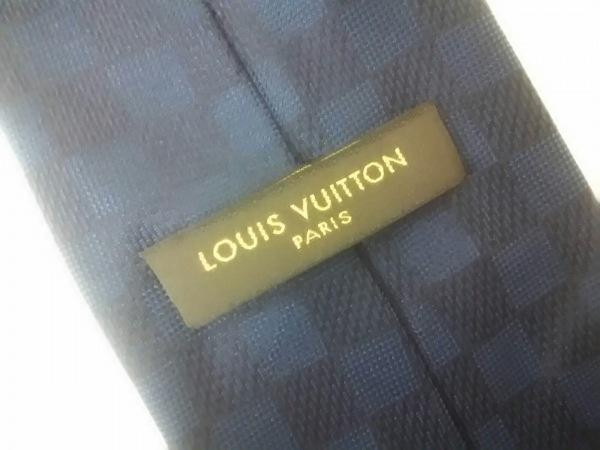 ルイヴィトン ネクタイ メンズ 美品 M72477 ブルー シルク100% 3