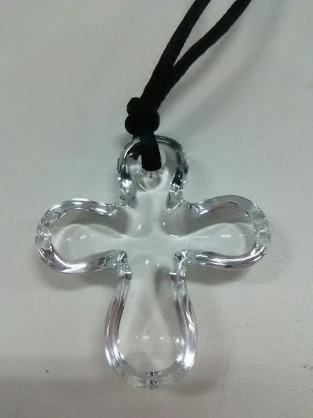 バカラ チョーカー クリスタルガラス×化学繊維 クリア クロス 3