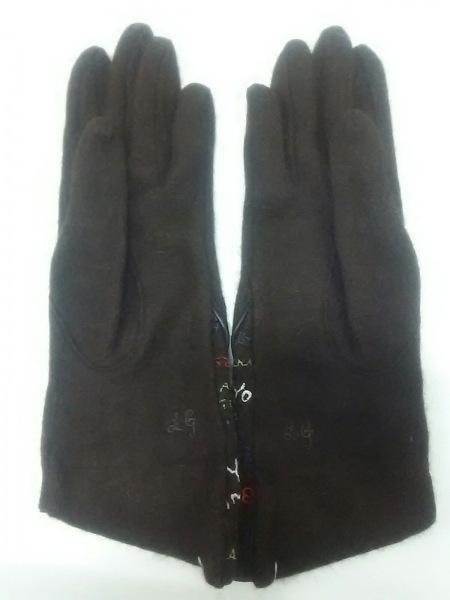 ルルギネス 手袋 レディース 新品同様 刺繍 ウール×ナイロン 3