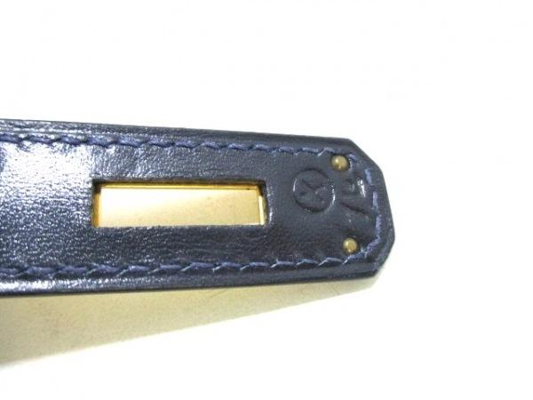 エルメス ハンドバッグ ケリー28 ダークネイビー ボックスカーフ 4