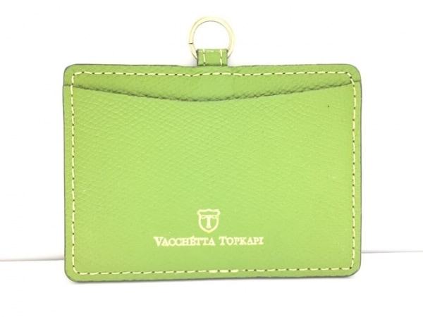 トプカピ パスケース 美品 ライトグリーン レザー TOPKAPI 0