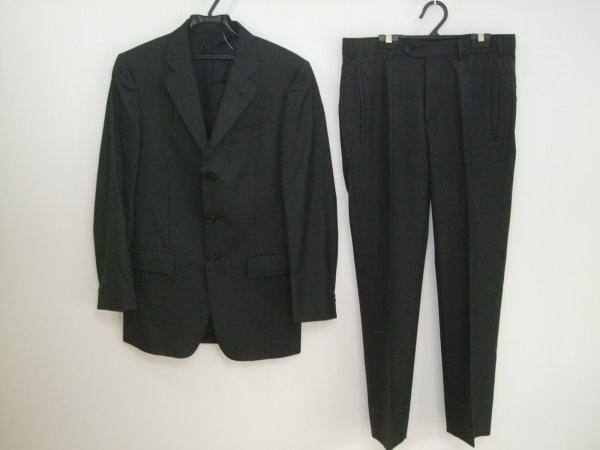 プラダ シングルスーツ メンズ 黒 PRADA 0