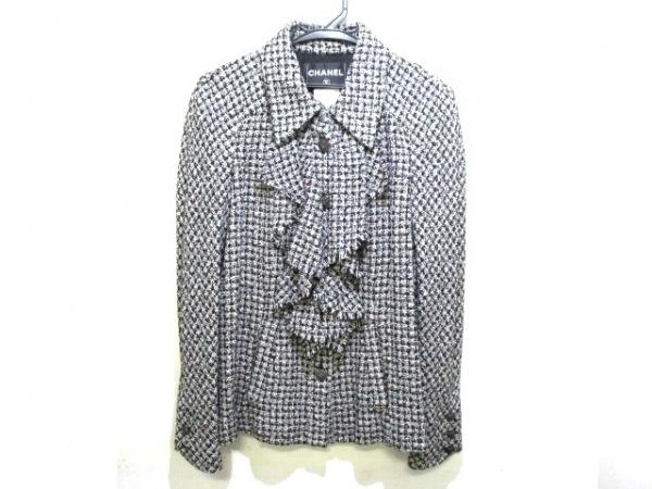 シャネル ジャケット サイズ38 M レディース 美品 P34906 黒×白 0