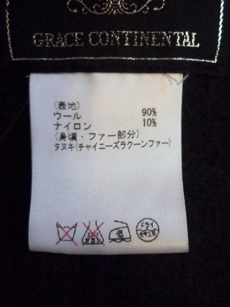 グレースコンチネンタル ポンチョ サイズF レディース 黒 4