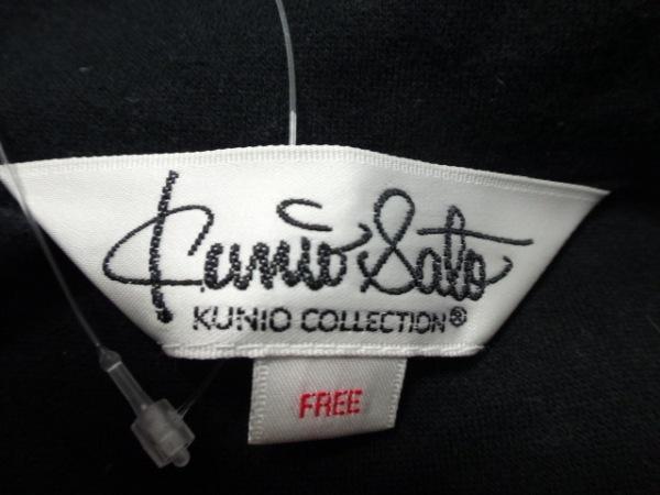 クニオ サトウ トレーナー サイズF レディース 黒×マルチ 3