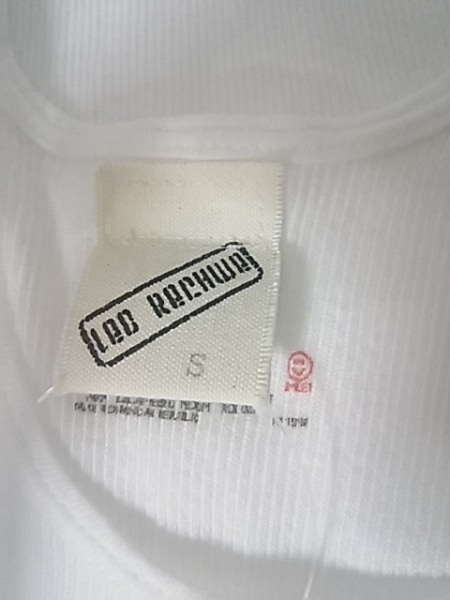 レッドリーチュエ タンクトップ サイズS メンズ新品同様  白×クリア 3