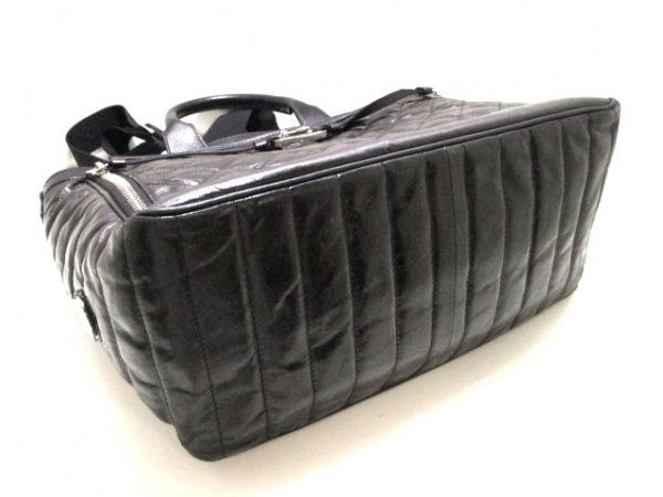 モンクレール ビジネスバッグ 黒 キルティング レザー MONCLER 4