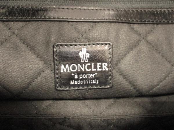 モンクレール ビジネスバッグ 黒 キルティング レザー MONCLER 6