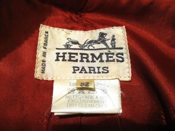 エルメス ダッフルコート サイズ52 メンズ 美品 レッド 冬物 3