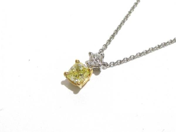 ティファニー ネックレス 美品 Pt950×K18YG×ダイヤモンド 0