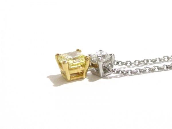 ティファニー ネックレス 美品 Pt950×K18YG×ダイヤモンド 7