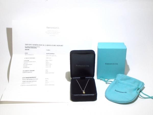 ティファニー ネックレス 美品 Pt950×K18YG×ダイヤモンド 8