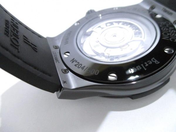 HUBLOT(ウブロ) 腕時計 美品 511.CM.0500.VR.BER16 メンズ 黒 8