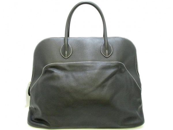 エルメス ハンドバッグ美品  ボリードリラックス45 黒 シルバー金具 0