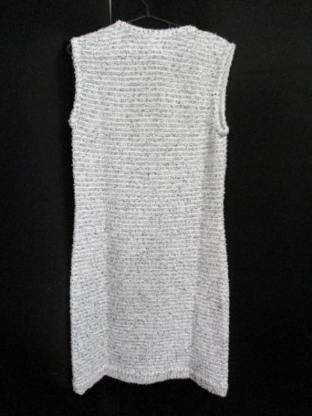 シャネル ワンピース サイズ40 M レディース 美品 白×黒 CHANEL 2