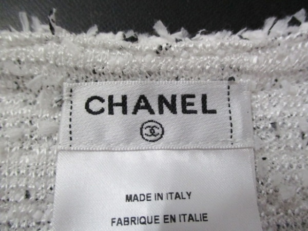 シャネル ワンピース サイズ40 M レディース 美品 白×黒 CHANEL 3