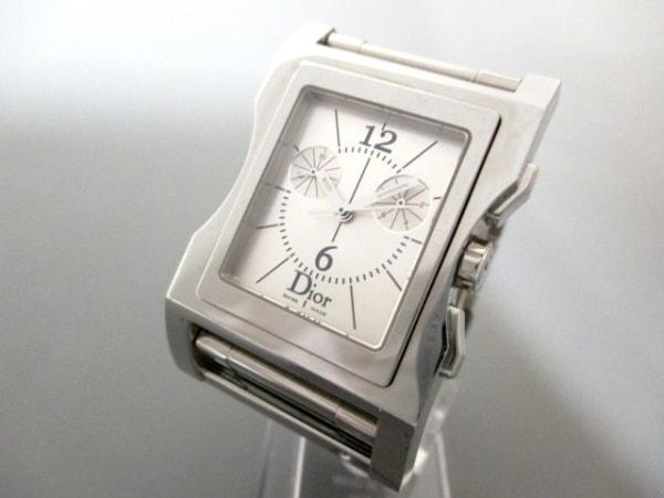 ディオール 腕時計 美品 クリス47 CD034310 メンズ シルバー 0