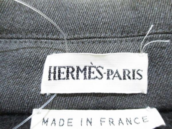 エルメス コート サイズ38 M レディース グレー 冬物 HERMES 3