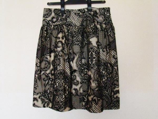 ステファン スカート サイズ38 M レディース美品  ベージュ×黒 0