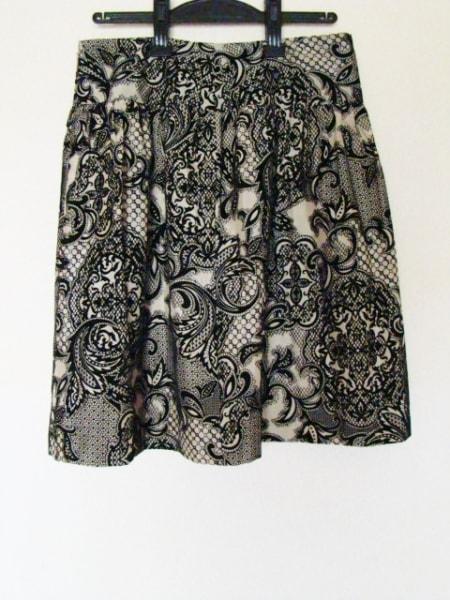 ステファン スカート サイズ38 M レディース美品  ベージュ×黒 2