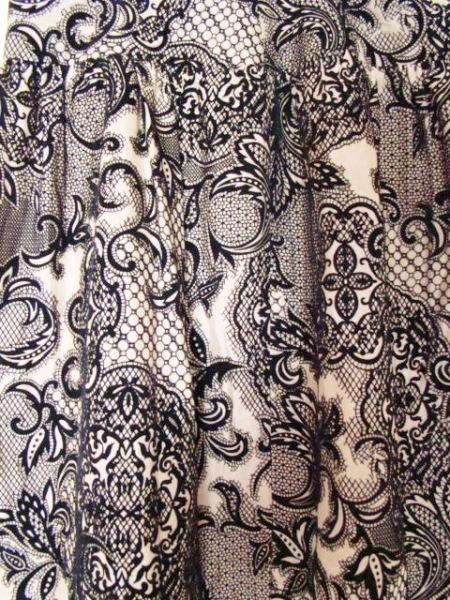 ステファン スカート サイズ38 M レディース美品  ベージュ×黒 7