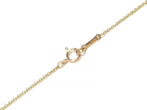 ティファニー ネックレス美品  ビーンズ K18YG×ダイヤモンド 4