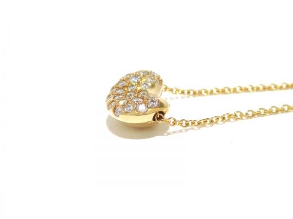 ティファニー ネックレス美品  ビーンズ K18YG×ダイヤモンド 6
