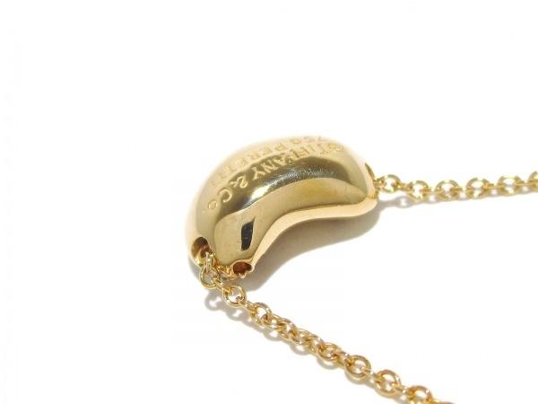 ティファニー ネックレス美品  ビーンズ K18YG×ダイヤモンド 7