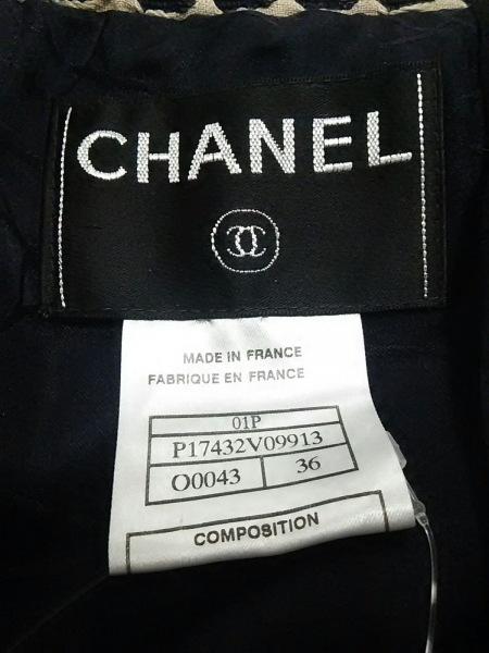 シャネル ジャケット サイズ36 S レディース美品  黒×ベージュ 3