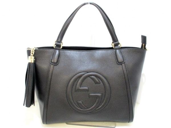 GUCCI(グッチ) ハンドバッグ美品  ソーホー 369176 黒 レザー 0