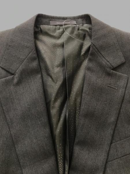 ヴェルサーチ ダブルスーツ メンズ グレー×黒 ウェーブストライプ 5