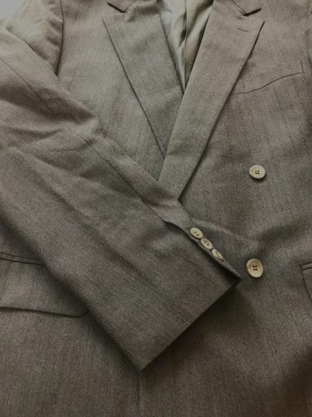ヴェルサーチ ダブルスーツ メンズ グレー×黒 ウェーブストライプ 6
