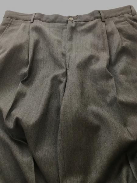 ヴェルサーチ ダブルスーツ メンズ グレー×黒 ウェーブストライプ 7