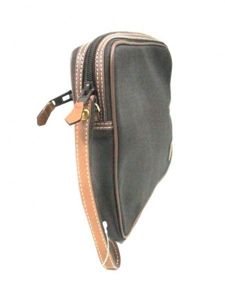 ダンヒル セカンドバッグ 黒×ブラウン PVC(塩化ビニール)×レザー 2