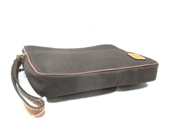 ダンヒル セカンドバッグ 黒×ブラウン PVC(塩化ビニール)×レザー 4