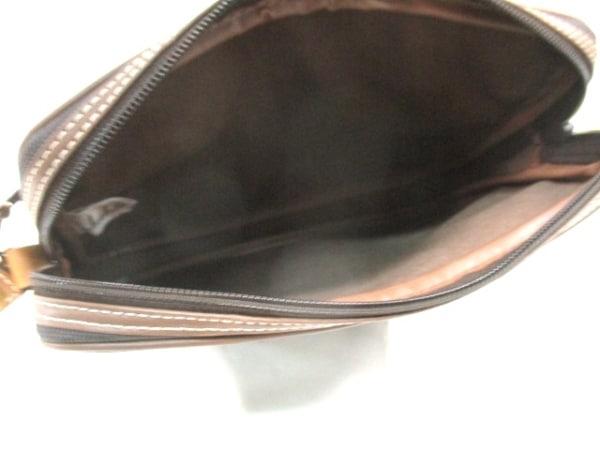 ダンヒル セカンドバッグ 黒×ブラウン PVC(塩化ビニール)×レザー 5