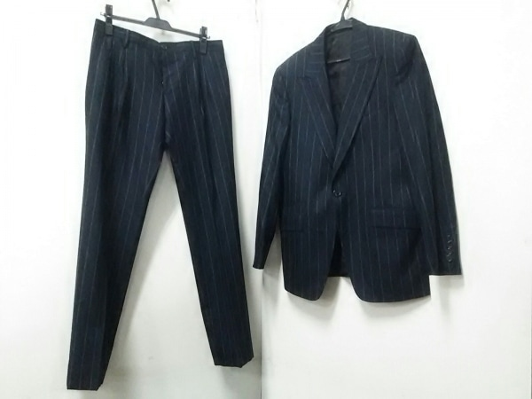 ドルチェアンドガッバーナ シングルスーツ メンズ ダークグレー×白 0