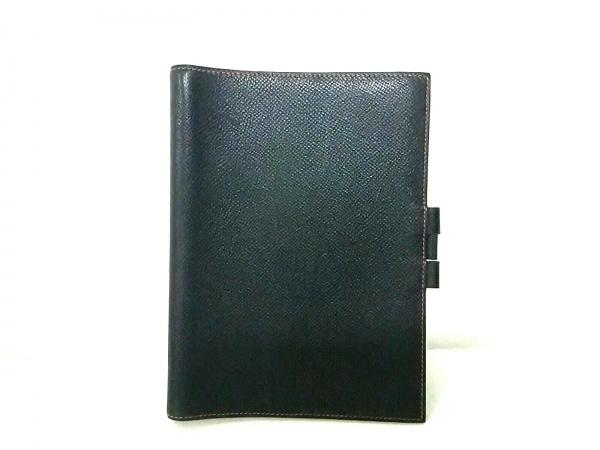 エルメス 手帳美品  グローブトロッター 黒×レッド クシュベル 0