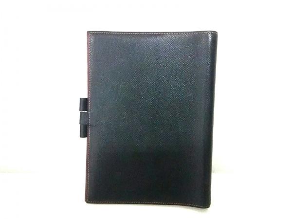 エルメス 手帳美品  グローブトロッター 黒×レッド クシュベル 2