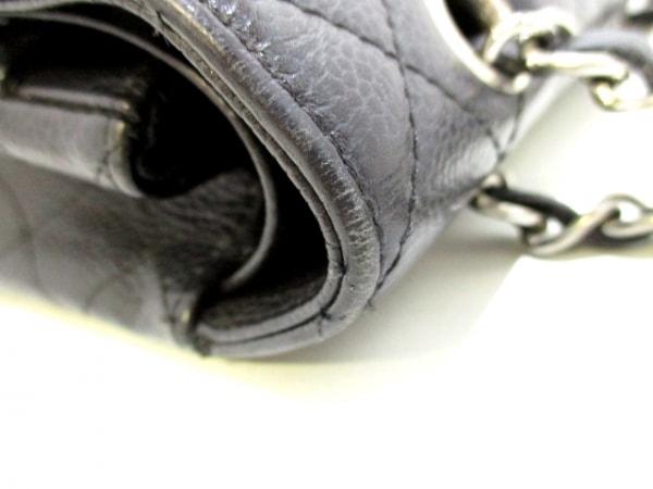 シャネル ショルダーバッグ マトラッセ A01112 黒 キャビアスキン 9